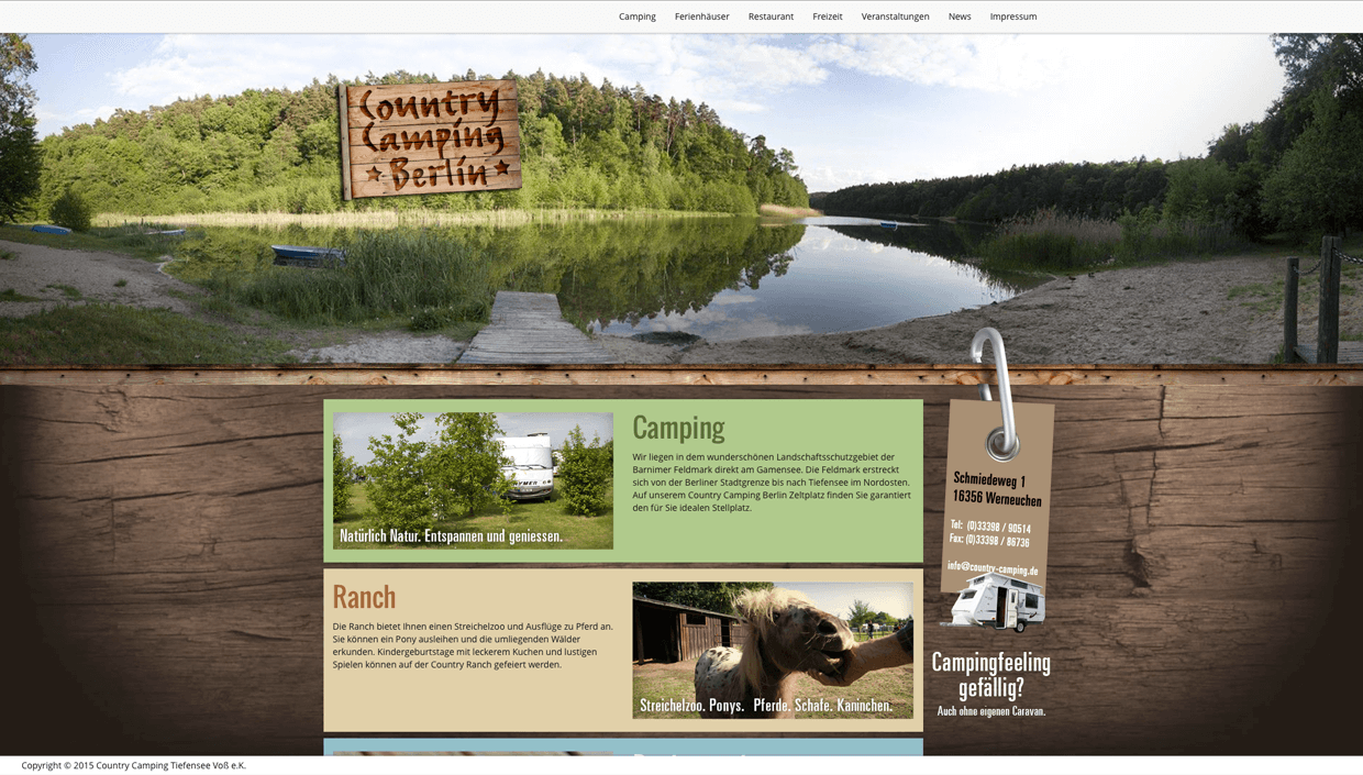 COUNTRY CAMPING  WEBDESIGN REFEFRENZ