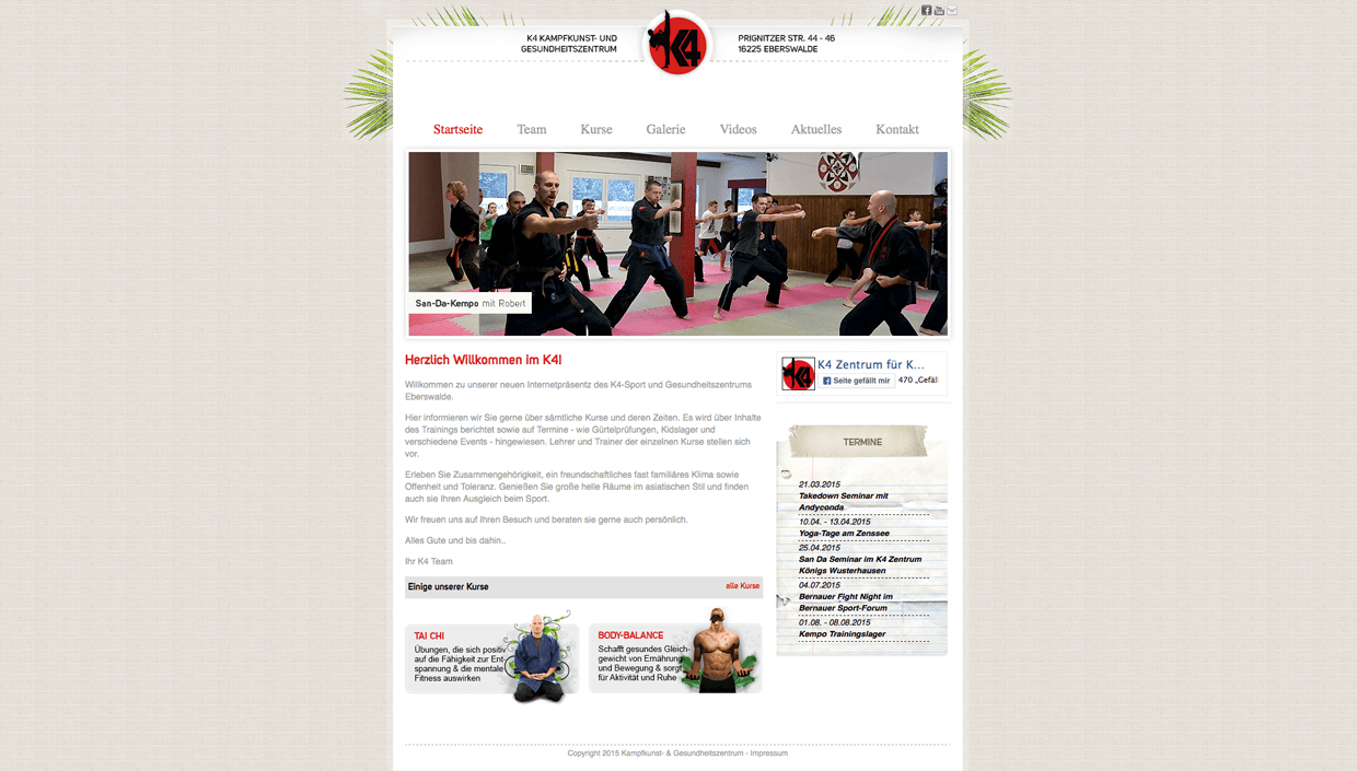 K4 ZENTRUM  WEBDESIGN REFEFRENZ